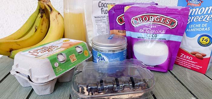 ingredientes pancake paleo