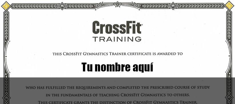curso L1 Crossfit