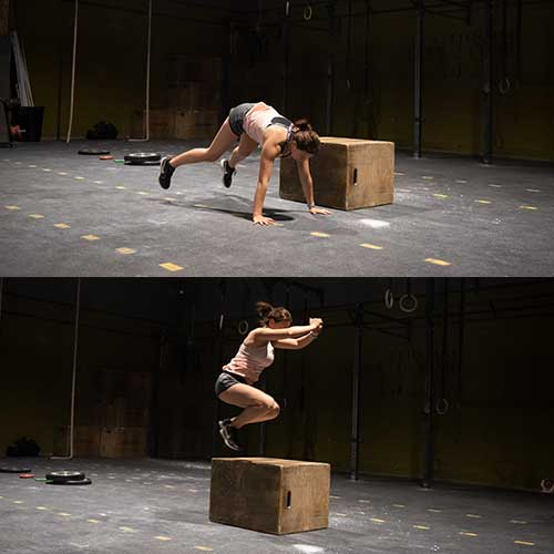 crossfit burpee over the box