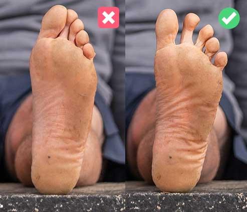 dedos pies apilados juntos
